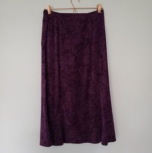 Notations Vintage purple paisley PL maxi skirt